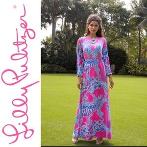 LILLY PULITZER Ashlynn Maxi in Pop Pink Size Small